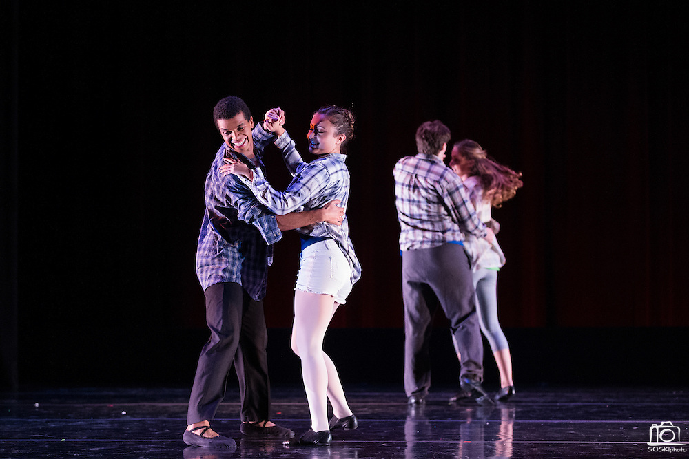 Santa Clara University's Department of Theatre & Dance performs during the Choreographer's Gallery dress rehearsal at Louis B. Mayer Theatre at Santa Clara University in Santa Clara, California, on November 30, 2016. (Stan Olszewski/SOSKIphoto)