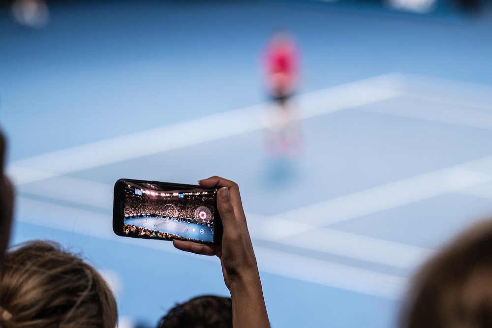 A detailed view of a camera on day eleven of the 2017 Australian Open at Melbourne Park on January 26, 2017 in Melbourne, Australia.<br /> (Ben Solomon/Tennis Australia)