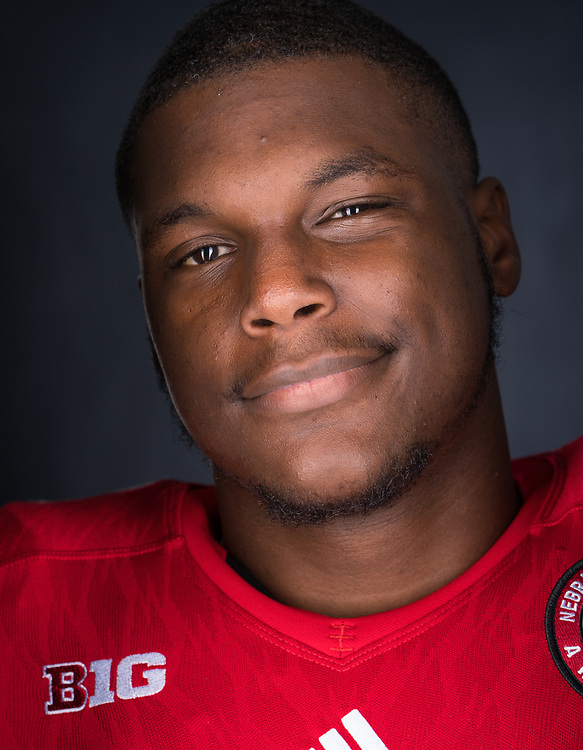 Daishon Neal #9 during a portrait session at Memorial Stadium in Lincoln, Neb. on June 6, 2017. Photo by Paul Bellinger, Hail Varsity