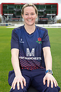 Lancashire Thunders Natalie Brown during the Lancashire County Cricket Club at the Emirates, Old Trafford, Manchester, United Kingdom on 3 April 2019.