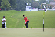 Michael Carrick putts on the 1st hole during the Celebrity Pro-Am day at Wentworth Club, Virginia Water, United Kingdom on 23 May 2018. Picture by Phil Duncan.