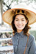 Souvernir vendor, Kanchanaburi Thailand, Eastern & Oriental Train
