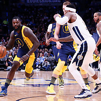 03 April 2018: Indiana Pacers guard Lance Stephenson (1) drives during the Denver Nuggets 107-104 victory over the Indiana Pacers, at the Pepsi Center, Denver, Colorado, USA.