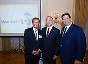 Montreal: Collaborative Ways of Doing Creative Business. Jeffrey Bernstein, hosts the Manhattan Chamber of Commerce's Chairman's Breakfast for Gerald Tremblay, Mayor of Montreal, Canada , John Parisella, Delegate General of Quebec in New York. Participating in the meeting were MCC partners, corporate members, Montreal business leaders and members of the New York business community. Photographed by Jeffrey Holmes, MCC Photographer at the 3 West Club in New York City.