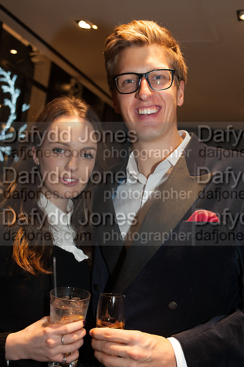 LADY VIOLET MANNERS; ROBERT SANCROFT-BAKER, Opening of new Hackett flagship store. Regent St. London. 28 November 2013.