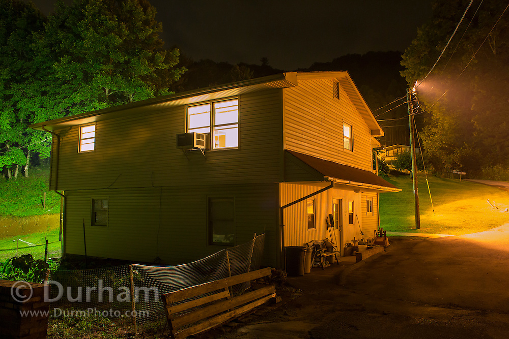 Bat researchers keep odd hours. Vanessa Rojas, PhD Student/bat researcher and her crew are up at midnight (during a  rare night off) on the upper floor of the little house they rent during the field season. (please note, camera clock was set to west coast time).