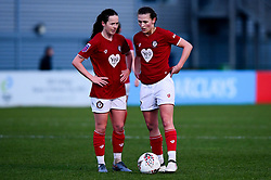 Olivia Chance of Bristol City and Charlie Wellings of Bristol City - Mandatory by-line: Ryan Hiscott/JMP - 08/12/2019 - FOOTBALL - Stoke Gifford Stadium - Bristol, England - Bristol City Women v Birmingham City Women - Barclays FA Women's Super League