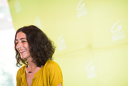 "14.06.2019, Volksgarten, Wien, AUT, Die Grünen, Pressekonferenz zu ""Aktuelles zur NR-Wahl 2019"". im Bild Grüne Landtags-Spitzenkandidatin in der Steiermark Sandra Krautwaschl // during media briefing of the Austrian Greens due to Austrian General Elections 2019 in Vienna, Austria on 2019/06/14. EXPA Pictures © 2019, PhotoCredit: EXPA/ Michael Gruber"