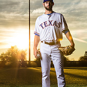 SURPRISE, AZ - FEBRUARY 22: Texas Rangers pitcher Nick Martinez #22 poses for a photo during the Texas Rangers photo day on Feb. 22, 2017 at Surprise Stadium in Surprise Ariz. (Photo by Ric Tapia/Icon Sportswire)