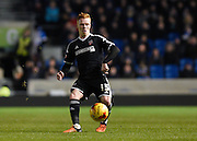 Brentford midfielder Ryan Woods during the Sky Bet Championship match between Brighton and Hove Albion and Brentford at the American Express Community Stadium, Brighton and Hove, England on 5 February 2016. Photo by David Charbit.