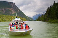 The River Safari in Blue River, British Columbia, offers one hour boat tours in the Monashee Mountains.  The tour operates by jet boat in one of the only inland temperate rainforests in the province.  Although the most sought after sightings are bears, both grizzly and black, there are also possibilities to see moose, eagle and osprey.