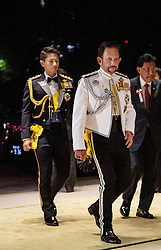 October 22, 2019, Tokyo, JAPAN: 22-10-2019 Gala Royals arrive at the Imperial Palace for the Court Banquets, the 'Kyoen-no-gi' banquet, after the ceremony of the enthronement of Emperor Naruhito in Tokyo, Japan Brunei's Sultan Hassanal Bolkiah and his son prince Abdul Mateen. (Credit Image: © face to face via ZUMA Press)