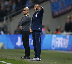 February 24, 2019 - London, England, United Kingdom - Chelsea manager Maurizio Sarri .during during Carabao Cup Final between Chelsea and Manchester City at Wembley stadium , London, England on 24 Feb 2019. (Credit Image: © Action Foto Sport/NurPhoto via ZUMA Press)