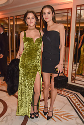 Left to right, Eliza Cummings and Frankie Herbert at The Cartier Racing Awards 2018 held at The Dorchester, Park Lane, England. 13 November 2018. <br /> <br /> ***For fees please contact us prior to publication***