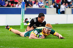 Campbell Magnay of Australia U20 scores a try - Mandatory byline: Patrick Khachfe/JMP - 07966 386802 - 25/06/2016 - RUGBY UNION - AJ Bell Stadium - Manchester, England - Australia U20 v New Zealand U20 - World Rugby U20 Championship 2016 5th Place Play-Off.
