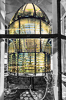 This Fresnel lens sits on top the Currituck Beach Lighthouse in Corolla North Carolina.