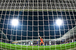 Luka Zahovic of Maribor scores a game-tying goal against Rui Patrício of Sporting during football match between NK Maribor and Sporting Lisbon (POR) in Group G of Group Stage of UEFA Champions League 2014/15, on September 17, 2014 in Stadium Ljudski vrt, Maribor, Slovenia. Photo by Matic Klansek Velej  / Sportida.com