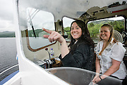 The Ladies Of The Loch - Shot for Scottish Daily Mail Feature<br /> <br /> The Steamship Sir Walter Scott Ltd has appointed two young ladies as the first female crew on the motor vessel Lady of the Lake for the summer cruising season. <br /> <br /> The boat is named after the scenery at Loch Katrine, where it works, and which inspired Sir Walter Scott to write the story of the same name.<br /> <br /> Pictured -Debbie Whyte (skipper) from aberfoyle, wearing black jacket with dark hair, and Tamsin Webster a university graduate from Gartmore