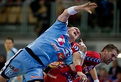 Miha Zvizej of Slovenia during the Men's Handball European Championship Main Round match between Slovenia and Czech republic at the Olympia Hall on January 24, 2009 in Innsbruck, Austria.  (Photo by Vid Ponikvar / Sportida) - on January 2010