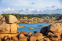 tregastel  Pink Granite Coast (cote de granit rose) in brittany France