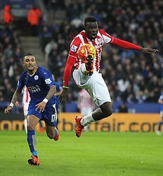 Mame Biram Diouf of Stoke City in action - Mandatory byline: Jack Phillips/JMP - 23/01/2016 - FOOTBALL - King Power Stadium - Leicester, England - Leicester City v Stoke City - Barclays Premier League