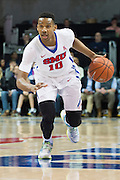 DALLAS, TX - DECEMBER 17: Jarrey Foster #10 of the SMU Mustangs drives to the basket against the Hampton Pirates on December 17, 2015 at Moody Coliseum in Dallas, Texas.  (Photo by Cooper Neill/Getty Images) *** Local Caption *** Jarrey Foster