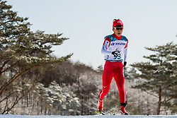 March 17, 2018 - Pyeongchang, SOUTH KOREA - 180317 Taiki Kawayoke of Japan competes in the men's 10 km standing cross-country skiing during day eight of the 2018 Winter Paralympics on March 17, 2018 in Pyeongchang..Photo: Vegard Wivestad GrÂ¿tt / BILDBYRN / kod VG / 170134 (Credit Image: © Vegard Wivestad Gr¯Tt/Bildbyran via ZUMA Press)