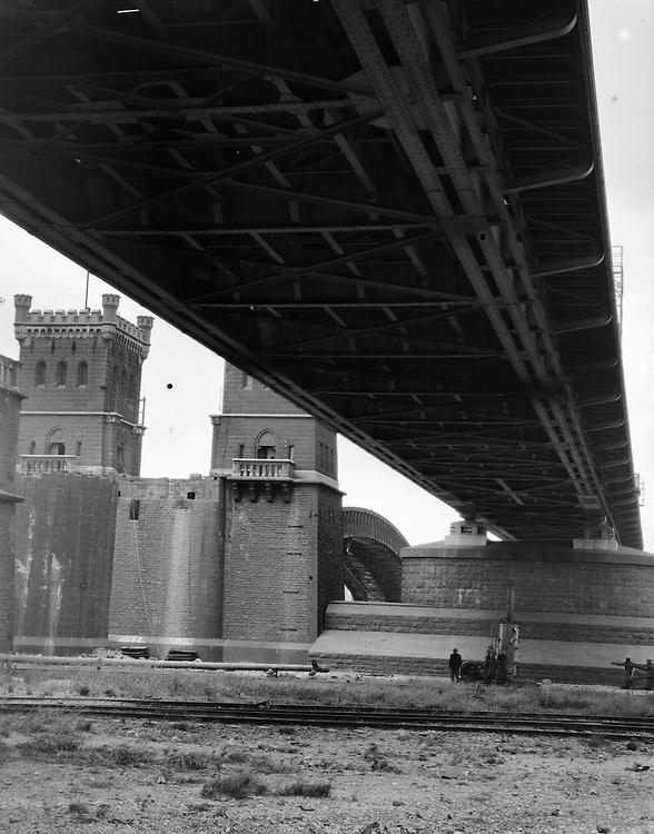 Railroad Bridge From Below, Duisburg, 1928