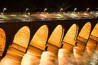 Stone arch bridge over the Mississippi river in Minneapolis, Minnesota, USA.