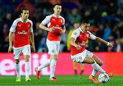 Arsenal's Alexis Sanchez in action - Mandatory byline: Matt McNulty/JMP - 16/03/2016 - FOOTBALL - Nou Camp - Barcelona,  - FC Barcelona v Arsenal - Champions League - Round of 16