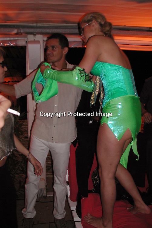 Mario, Paris Hilton<br />Naomi Campbell Birthday Party<br />Nioulargo Restaurant<br />St. Tropez, France<br />May 19, 2001<br />Photo by Antoine Desert/Celebrityvibe