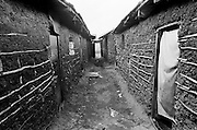 In 1955 the total population of the Nubian village of Kibra was 3,000 people. Nubian families once had spacious plots of land called 'shambas', meaning 'farm' in Swahili. Today hundreds of thousands of people live in dilapidated rooms and huts in Kibera. Nubian homes are considered temporary structures, even though some Nubian homes are almost 100 years old.