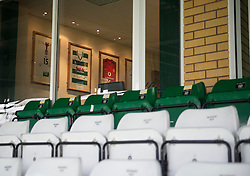 A Manchester United Shirt hangs in a Directors box at Huish Park  - Photo mandatory by-line: Joe meredith/JMP - Mobile: 07966 386802 - 04/01/2015 - SPORT - football - Yeovil - Huish Park - Yeovil Town v Manchester United - FA Cup - Third Round