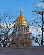 The Colorado Capitol building, located in downtown Denver, pays tribute to the gold rush days with its plating of pure gold from the the legendary mines of the Rocky Mountains.