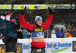 06.01.2012, Paul Ausserleitner Schanze, Bischofshofen, AUT, 60. Vierschanzentournee, FIS Ski Sprung Weltcup, Podium, im Bild gesamtsieger der 60 Vierschanzentournee Gregor Schlierenzauer (AUT) // overall winner Gregor Schlierenzauer of Austria  on Podium during 60th Four-Hills-Tournament FIS World Cup Ski Jumping at Paul Ausserleitner Schanze, Bischofshofen, Austria on 2012/01/06. EXPA Pictures © 2012, PhotoCredit: EXPA/ Johann Grod