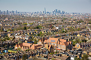 London's skyline from Dawson's Heights in Dulwich, London, England, United Kingdom. Famous architectural buildings can be seen in the distance including: The Shard, St Pauls Cathedral and 20 Fenchurch Street.  (photo by Andrew Aitchison / In pictures via Getty Images)
