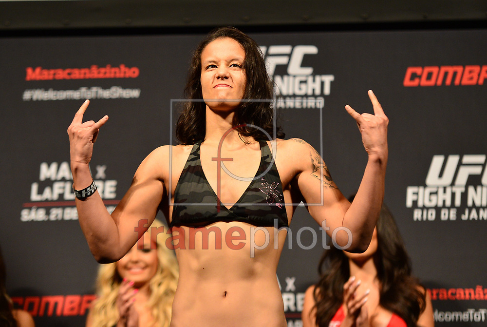 Rio de Janeiro (RJ), 20/03/2015 - Pesagem Oficial do UFC Fight Night . Nunes vs Baszler. Maracanãzinho, Rio de Janeiro. Foto: Fernando Monteiro/Frame