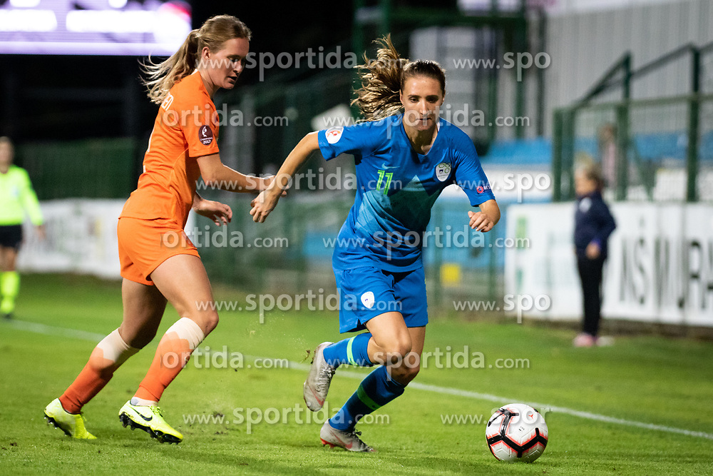 Lara Prašnikar of Slovenia during football match between Slovenia and Nederland in qualifying Round of Woman's qualifying for EURO 2021, on October 5, 2019 in Mestni stadion Fazanerija, Murska Sobota, Slovenia. Photo by Blaž Weindorfer / Sportida