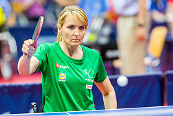 (SLO) Andreja Dolinar in action during 15th Slovenia Open - Thermana Lasko 2018 Table Tennis for the Disabled, on May 10, 2018 in Dvorana Tri Lilije, Lasko, Slovenia. Photo by Ziga Zupan / Sportida