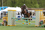 Saskia Brookes on Derreentige Tilly  during the International Horse Trials at Chatsworth, Bakewell, United Kingdom on 11 May 2018. Picture by George Franks.