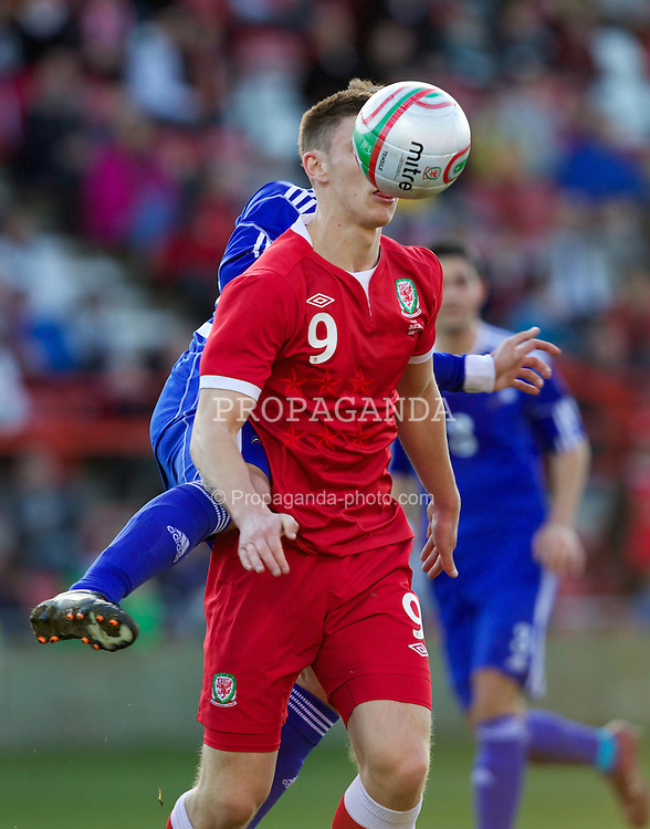 WREXHAM, WALES - Wednesday, February 29, 2012: Wales' Jake Cassidy (Wolverhampton Wanderers) during the UEFA Under-21 Championship Qualifying Group 3 match against Andorra at the Racecourse Ground. (Pic by Vegard Grott/Propaganda)