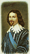 George Villiers, lst Duke of Buckingham (1592-1628) English statesman. Favourite of James I and Charles I.  Assassinated by John Felton. Chromolithograph after the portrait by Gerard von Honthorst.