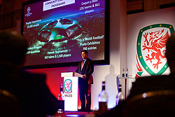 NEWPORT, WALES - Friday, May 18, 2018: Welsh Football Trust Chief Executive Neil Ward during day one of the Football Association of Wales' National Coaches Conference 2018 at the Celtic Manor Resort. (Pic by David Rawcliffe/Propaganda)