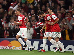 15.09.2010, Emirates Stadium, London, ENG, UEFA CL, Arsenal fc vs Sporting Braga, im Bild Arsenal's Andrei Arshavin makes 2-0  and celebrates   during Arsenal fc vs Sporting Braga for the UCL  Group  H at the Emirates Stadium in London. EXPA Pictures © 2010, PhotoCredit: EXPA/ IPS/ Marcello Pozzetti +++++ ATTENTION - OUT OF ENGLAND/UK +++++ / SPORTIDA PHOTO AGENCY