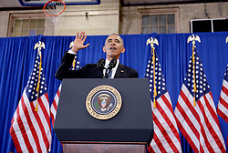 President Barack Obama speaks during a visit to Benjamin Banneker Academic High School to highlight the progress that has been made over the last eight years to improve education across the country on October 17, 2016 in Washington, DC, USA. Photo by Olivier Douliery/ABACAPRESS.COM