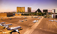 Aerial view, McCarran International Airport, Las Vegas, Nevada USA