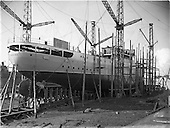 "1952 - Irish Lights, new ship ""Isolde"" at the Liffey Dockyard"