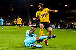 Jonny of Wolverhampton Wanderers is tackled by DeAndre Yedlin of Newcastle United - Mandatory by-line: Robbie Stephenson/JMP - 11/02/2019 - FOOTBALL - Molineux - Wolverhampton, England - Wolverhampton Wanderers v Newcastle United - Premier League