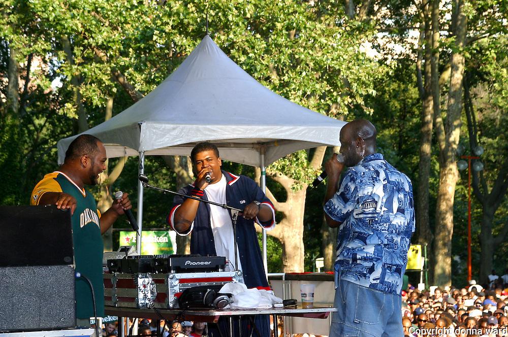 Rappers De La Soul  performs at Central Park SummerStage on July 12, 2003.