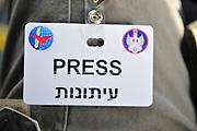 Israel, Tel Nof IAF Base, An Israeli Air force (IAF) exhibition Press badge